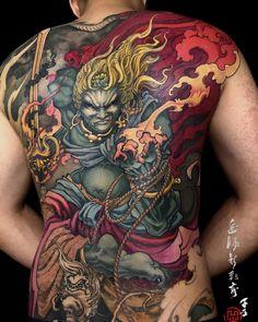 未完待续 大面积结痂恢复中 #tattoo #tattooart #tattooist #asiantattoo #backpiece #backtattoo #tattoo_composition #tattoo_art_worldwide #chinesetattoo…
