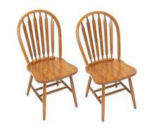 Solid Wood Windsor Arrow Back Chair Set Of 2 Heritage Oak X