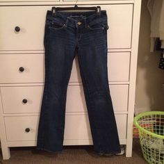 American Eagle Slim Boot Jeans super cute, just a size too small for me. American Eagle Outfitters Jeans Boot Cut