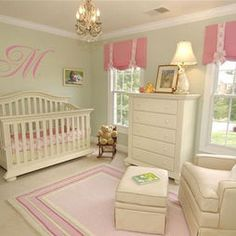 pink and green nursery love the M