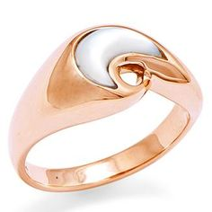 Mother of pearl, rose gold.