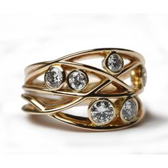 Diamond woven ring - Bespoke Multi Stone Rings - Bespoke Jewellery