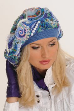 Freeform Crochet Beret - Awesome