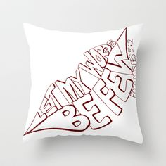 Ecclesiastes 5:2 Throw Pillow by Alohalani - $20.00