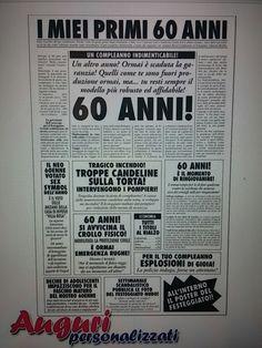 12 Fantastiche Immagini Su 30 40 60 Anni Prodotti Articoli Regalo