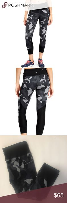 // Athleta Camo Leggings nwt! super cute camo leggings! these have a zip pocket on the back and pockets on the sides Athleta Pants Leggings