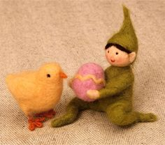 with felted egg tutorial (really sweet)