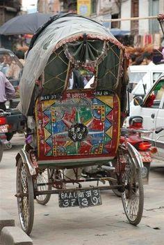 Decorated Rickshaw