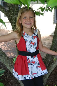 """The Block Party Dress & Tunic, a PDF sewing pattern by Mandy K Designs Size 12m to 14, plus 18"""" doll"""