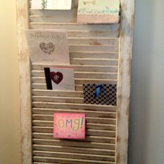 Greeting card display racks for craft shows rustic display of shutter greeting card holder or wedding placement cards m4hsunfo