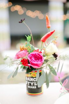 Recycle cans by turning them into the sweetest vases CHILI COOK OFF!