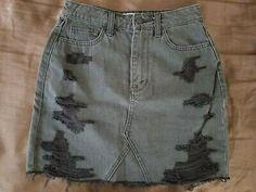 Distressed Jean Skirt, Hollister, Denim, Skirts, Closet, Ebay, Black, Fashion, Moda