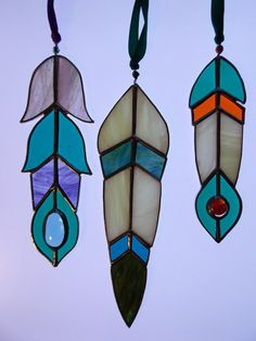 Hanging Sun Catcher for CUSTOM ORDER Glass Bird Feather Measure between 5 and 8 high, choose from the list which size & colour you would like. Lots