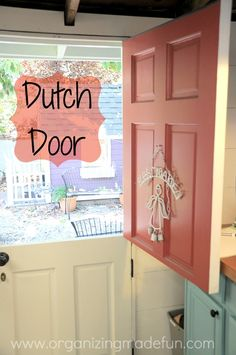 Dutch Door. My husband has actually made one of these doors for a friend.  It turned out wonderful. Would love to have one in a garden shed......