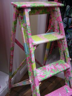 Lilly Pulitzer painted ladder