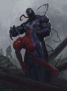 Venom #Fan #Art. (Venom Vs Spider-Man Final) By: Francisco Miyara. (THE * 5 * STAR * AWARD * OF * ÅWESOMENESS!!!™)