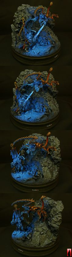 Lord of Light- Kaldor Draigo vs. Lictor diorama