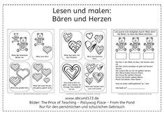 Bären und Herzen (Lesen und malen) - Aufmerksames Lesen trainieren #DAF #DAZ
