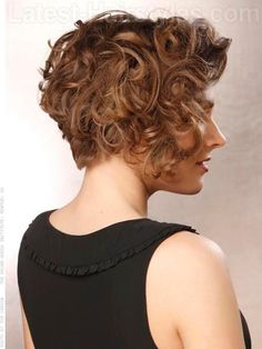 Short Naturally Curly Haircut Side