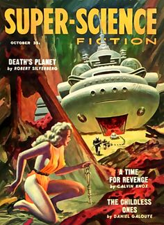 super science fiction - I like the fact that the women in the picture is wearing high heels! Jeez.