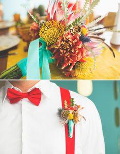 i love these colors! super mario wedding!