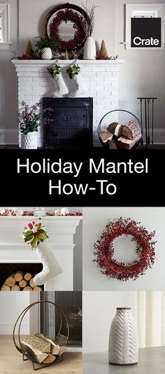 Simple, modern and rustic decorating ideas for your Christmas mantel from Modest Marce.