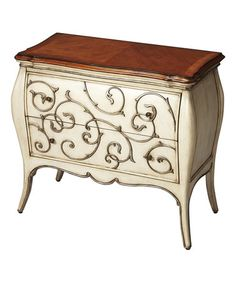 Another great find on #zulily! Antique Cream Bombe Chest #zulilyfinds