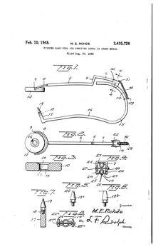 Patent US2435726 - Pivoted hand tool for removing dents in sheet metal - Google…