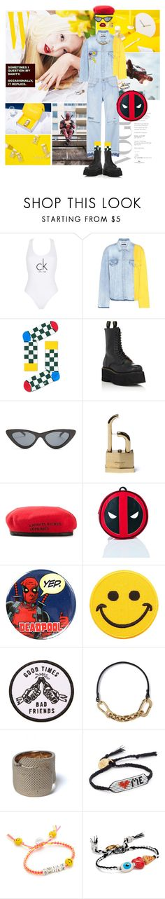 """""""I'm a mother-father-gentleman"""" by gizibe ❤ liked on Polyvore featuring Calvin Klein, Off-White, R13, Le Specs, Enfants Riches Déprimés, Loungefly, Marvel, Hollywood Mirror, Sketchy Tank and Venessa Arizaga"""
