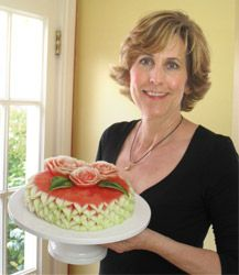 watermelon anyone?  This lady has tutorials on how to carve watermelon into flowers, cake shapes, etc!