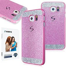 Galaxy S6 Case , iAnko® Luxury Bling Rhinestone Diamond Crystal Glitter Hard PC Case Cover Shell Phone Case for Samsung Galaxy S6 (Pink (Hard Case) iAnko http://www.amazon.com/dp/B00XR0O66Y/ref=cm_sw_r_pi_dp_TEYOvb0YKQM9J