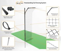 Cat Fence Enclosure System - How it Works Siberian Kittens, Cats And Kittens, Terrazzo, Anti Chat, Cats Outside, Cat Fence, Outdoor Cat Enclosure, Boy Cat, Cat Room