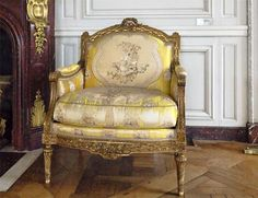 This is one of my favourite chairs at #Versailles...no, honestly!