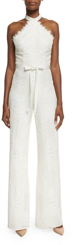 Shop for Maylina Sleeveless Grecian Lace Jumpsuit, Ivory by Alexis at ShopStyle. Wedding Reception Outfit, Wedding Pants, Winter Wedding Outfits, Wedding Jumpsuit, Lace Jumpsuit, White Wedding Dresses, Designer Wedding Dresses, White Jumpsuit, Fashion Pants