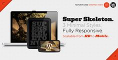 Super Skeleton WP: Responsive, Minimal, Beautiful - ThemeForest Item for Sale Bootstrap Template, Wordpress Template, Minimal Theme, All Themes, It Gets Better, Website Themes, Magazine Template, Premium Wordpress Themes, Journals