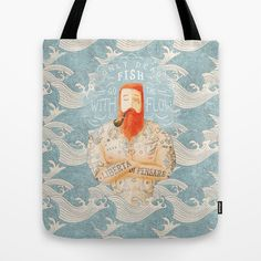 Sailor Tote Bag by Seaside Spirit - $22.00  SHOP ONLINE: http://society6.com/product/sailor-vhd_bag#26=197  FOLLOW: www.facebook.com/seaside.otherside