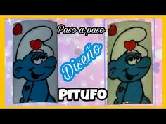 Diseño Pitufo - YouTube Youtube, Character, Finger Nails, Smurfs, Youtubers, Lettering, Youtube Movies