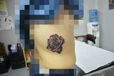 Realistic Rose #rose #realism #tattoo #black&grey