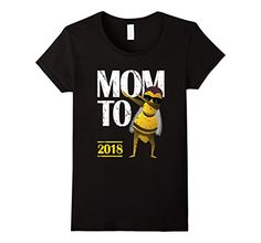Womens Dabbing Bee Funny Mom To Be 2018 T Shirt Small Black