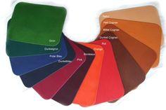 Farbpalette des vegetabil gegerbten Leders, Bioleder