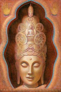 Kuan Yin spirituelle Kunst Buddha Poster tibetischen Buddhismus Göttin Tara drucken  Dies ist ein Künstler signierte Giclée-Druck von Healing
