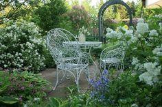 Patio Design, Garden Design, Landscape Design, Pond Design, Garden Cottage, Home And Garden, Garden Nook, Garden Gazebo, Night Garden