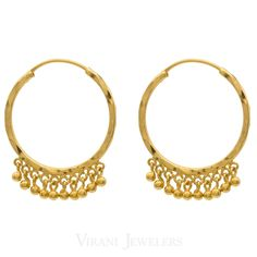 22k Gold Bali Earring | This is an adorable bali earring crafted with 22k gold. It will surely suit your stunning style.
