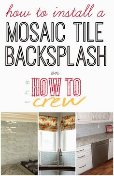How To Install a Mosaic Tile Backsplash from TheHowToCrew.com. A step-by-step tutorial to help you easily install your own tile backsplash! #diy #kitchen #remodel