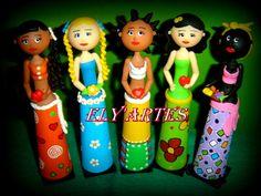 Minhas bonecas em cone