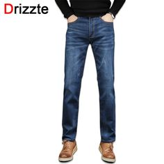 28.00$  Know more - http://ai0zi.worlditems.win/all/product.php?id=32789520190 - Drizzte Brand Mens Jeans Stretch Denim Scratch Blue Jean Fashion Trousers Pants Size 32 33 34 35 36 38 40 42