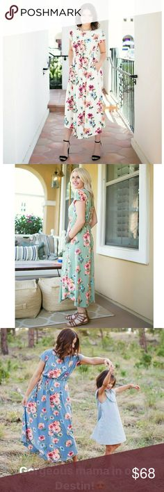 AJ Destin Dress This super comfortable dress is super soft. Features pockets and can be worn casually. This dress can also be dressed up with the right accessories. My Amelia James Dresses Maxi