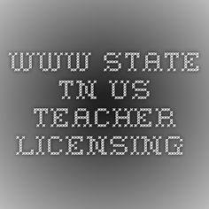 www.state.tn.us teacher licensing