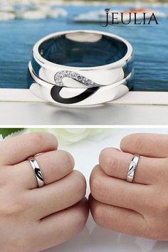 Love Design 925 Sterling Silver Promise Ring for Couples #jeulia