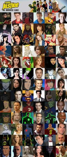 Young justice fan cast
